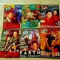6 Vintage Cult Television Magazines TV ZONE Doctor Who Stargate Red Dwarf Slider