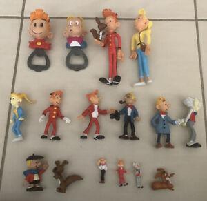 Lot de 16 figurines Spirou et Fantasio Comics spain Quick Plastoy Schleich