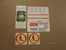 MLB St.Louis Cardinals 1971 Decals & Ticket Order Blank