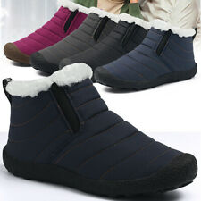 Mens Womens Snow Boots Winter Warm Ankle Booties Anti-Slip Fur Lined Shoes Size