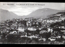 NEUCHATEL (SUISSE) VILLAS & EGLISE , TROUEE de BOURGOGNE début 1900