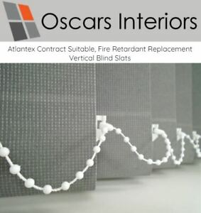 """Atlantex Welded Contract Made to Measure Replacement Slats 3.5"""" Machine Washable"""