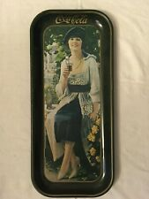 Coca Cola Long Tray Flapper Girl Featuring 1921 Advertising Produced 1973