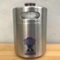 Mini Keg Beer Growler 2L 64oz Stainless Steel barrel bottle screw top naked keg