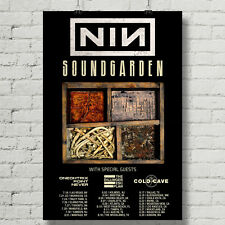 Nine Inch Nails and Sound Garden concert poster  canvas print