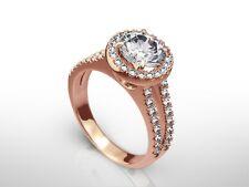 3 CARAT ROUND CUT D/VVS2 DIAMOND CERTIFIED ENGAGEMENT RING 14K ROSE GOLD