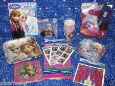 New Frozen Disney Princess Birthday Party Kit For 8  Plates Cups Napkins USA