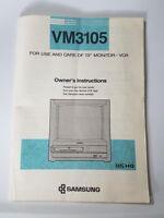 "Samsung VM3105 Manual13"" TV VCR Combo"