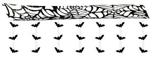 Halloween Gruesome Bat Attack ceiling wall hanging banner decoration 3 meters