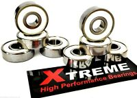 16 Pack 627 RS [7mm] ABEC-9 Xtreme STAINLESS SWISS WHITE ROLLER SKATE BEARINGS