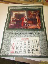 ORIGINAL - THE THOS D. MURPHY CO - RED OAK IOWA  - SAMPLE CALENDAR - 1930 - NM