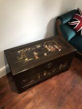 More details for fine oriental shibayama camphorwood chest