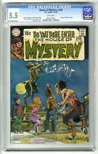 DC HOUSE of MYSTERY #186 (MAY/JUN 1970) CGC 5.5 WHITE PAGES NEAL ADAMS WRIGHTSON