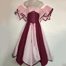 Victorian Maiden Costumes Women Halloween Cosplay Medieval Renaissance Dress
