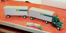 XTRA NICE 1985 WINROSS ABF FREIGHT TRACTOR DOUBLE TRAILER DIECAST TRUCK 1/64 #20