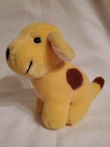 "Plush Spot The Dog 6"" stuffed animal Yellow Brown sitting Puppy Dog 1993 Eden"
