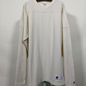 Champion 1919 Vintage Throwback Heavy Cotton Blank Elbow Pad Football Jersey LS
