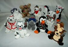 NOS 12 COCA COLA BEAN BAG PLUSH NORTH POLE CHARACTER COLLECTION 1998 WITH TAGS!!