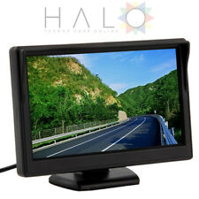 MONITOR TFT LCD  4:3 A COLORI PER TELECAMERA RETROMARCIA 2 USCITE VIDEO CAM