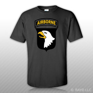101st Airborne Division T-Shirt Tee Shirt Free Sticker Div the Screaming Eagles