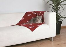 Beany Fleece Blanket For Cats & Dogs Protects Furniture 100 x 70 cm Bordeaux