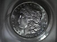 1881-S Morgan Silver Dollar ANACS MS-63PL Premium!!