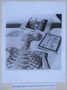 Woman Artist Photograph © Andrea Baldeck Gelatin Silver Print Skeleton Portrait