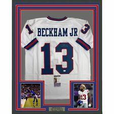 1c0c572dc FRAMED Autographed/Signed ODELL BECKHAM JR. 33x42 NY Color Rush Jersey JSA  COA