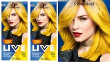2x Schwarzkopf Live Semi Permanent Color  Citrus Neons 107 LEMON TWIST
