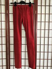 THE ROW NWT MOTO LEGGINGS STRETCH SUEDE CRIMSON RED XS MSRP $2090