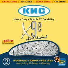 KMC X9E Bicicleta Eléctrica 9-fach CADENA 136 eslabones plata ; Dimension: 1/2 ×