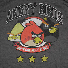 Angry Birds T-Shirt XXL Just One More Level Video Game Rovio Red Chuck Bomb