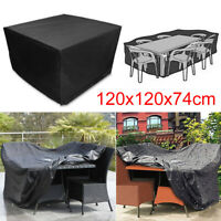 Heavy Duty Waterproof Patio Furniture Cover Table Square Cube Outdoor Covers