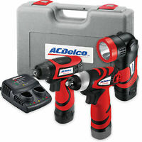 ACDelco Drill/Driver Impact Wrench / Light 3 Tool Set Combo Kit ARD847Li