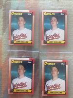 1990 Topps # 97 CURT SCHILLING ROOKIE CARD, Baltimore Orioles - HOF? LOT OF 4