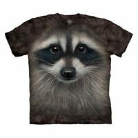 The Mountain Men's Raccoon Face T-Shirt Adult Tee Sizes S-2XL-3XL NWT