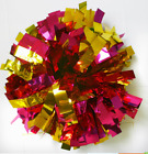 Child Adult Football Basketball Halloween Cheerleader 2PomPoms Pink mixed Gold