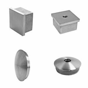Edelstahl Endkappe Rohrstopfen Rohrverschluss für Vierkantrohr und Rundrohr