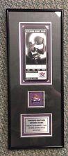 1995 Toronto Raptors Inaugural Season First Game Ticket Framed + Lapel Pin
