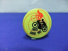 vtg badge earls court 1967 motor cycle show tin badge cycle bike
