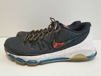 T382 MENS NIKE KD GREY MULTICOLOUR RUNNING LACE UP TRAINERS UK 10 EU 45 US 11