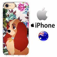 Silicone Case Cover Disney Classic Floral Overload Lady And The Tramp Cut