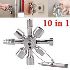10 in 1 Universale croce triangolo quadrato Chiave sblocca ascensore elettrici
