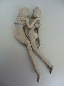 Iron Sculptural Nut Cracker - India - Love couple - 170mm long
