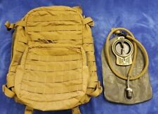 Genuine USMC FILBE COYOTE 3 DAY ASSAULT PACK, w/ Hyd Bladder System Bugout VGC!