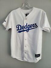 Rare Majestic Brooklyn LA Dodgers Jackie Robinson 42  Boys Youth Jersey L