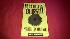 Libro thriller Patricia Cornwell MORTE INNATURALE Best Sellers Mondadori n°1031