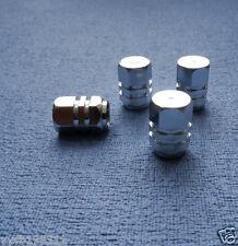 AUDI A3 metallo argento polvere TAPPI VALVOLA PNEUMATICO RUOTA in alluminio solido COPERCHIO ESAGONALE