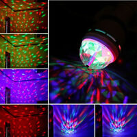 3W E27/B22 RGB Crystal Ball Rotating LED Stage Light Bulbs Disco Party Bulb A