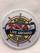 """Boy Scouts -  Florida Sea Base  -  """"Live Aboard"""" patch"""